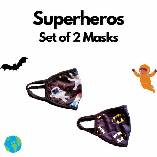 The Nestery : Kindermum - Super Heros Kids Mask - Set of 2