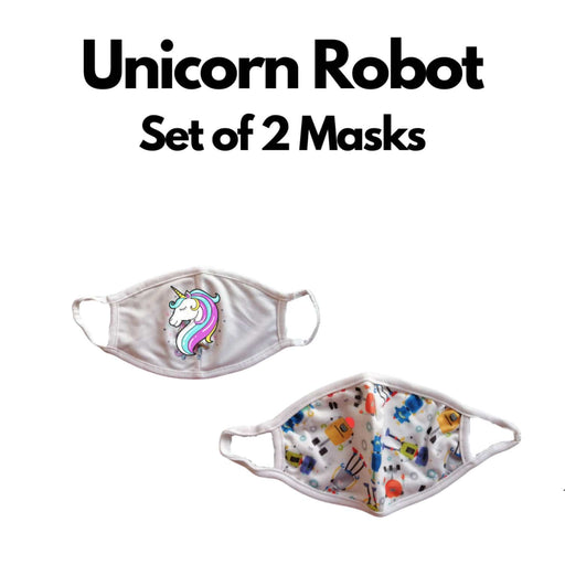 The Nestery : Kindermum - Unicorn Robot Kids Mask - Set of 2