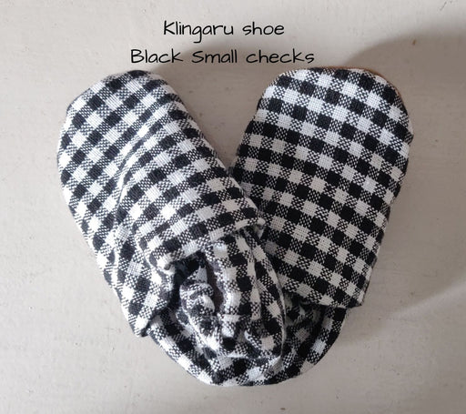 The Nestery: Klingaru - Booties - Black Small Checks