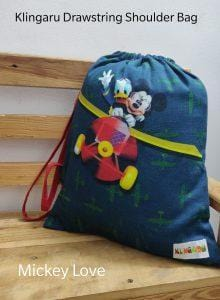 The Nestery: Klingaru - Drawstring Bag - Mickey Love
