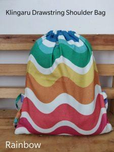 The Nestery: Klingaru - Drawstring Bag - Rainbow