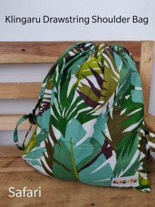 The Nestery: Klingaru - Drawstring Bag - Safari