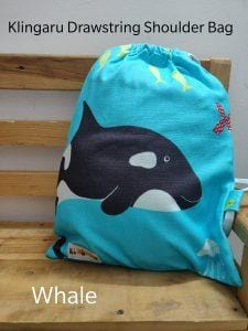 The Nestery: Klingaru - Drawstring Bag - Whale