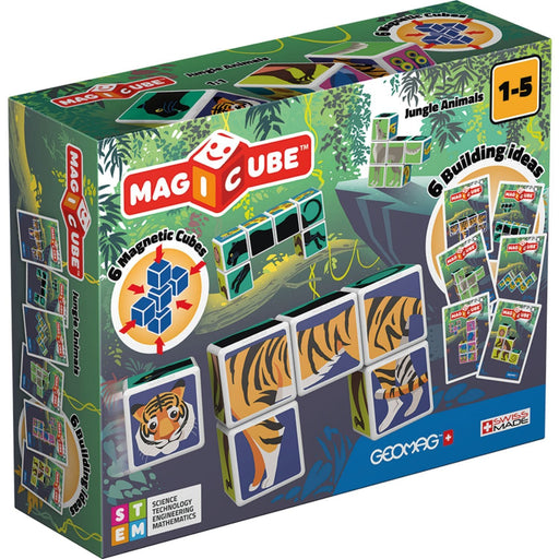 The Nestery : Kub & Bear - Geomag Magicube - Jungle Animals