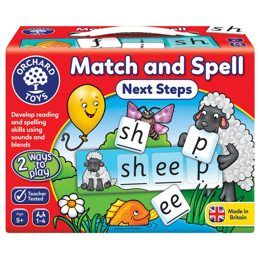 The Nestery : Kub & Bear - Orchard Toys - Match And Spell - Next Steps