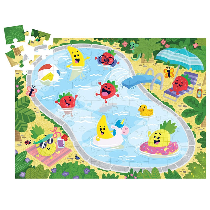 The Nestery : Kub & Bear - Peaceable Kingdom - Scratch And Sniff Puzzle: Fruity Pool Party