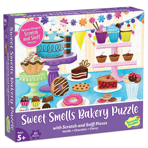 The Nestery : Kub & Bear - Peaceable Kingdom -  Scratch And Sniff Puzzle: Sweet Smells Bakery