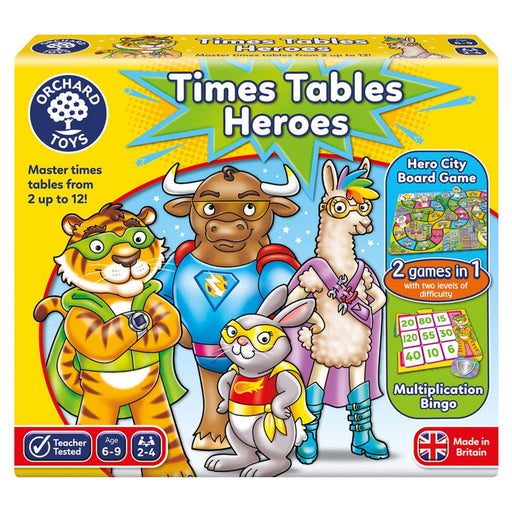 The Nestery : Kub & Bear - Orchard Toys - Times Tables Heroes