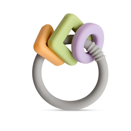 The Nestery: Little Rawr - Geo Shape Ring Teether Toy