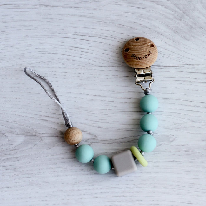 The Nestery: Little Rawr - Silicone Teether Beads String - Blue