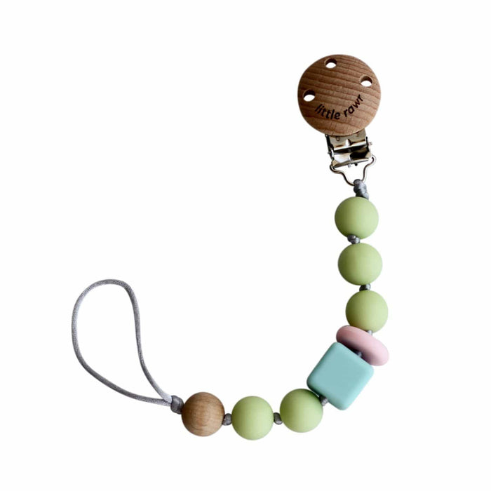 The Nestery: Little Rawr - Silicone Teether Beads String - Green