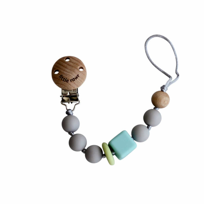 The Nestery: Little Rawr - Silicone Teether Beads String - Grey