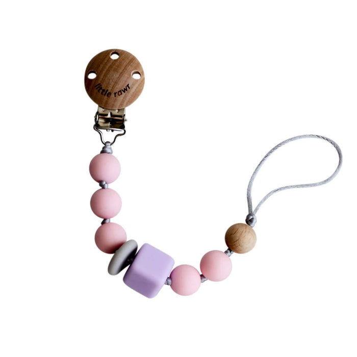 The Nestery: Little Rawr - Silicone Teether Beads String - Pink