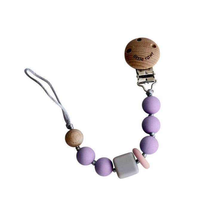The Nestery: Little Rawr - Silicone Teether Beads String - Purple