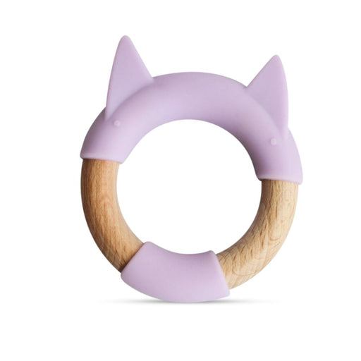 The Nestery: Little Rawr - Wood & Silicone Teether Ring - Kitty