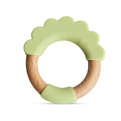 The Nestery: Little Rawr - Wood & Silicone Teether Ring - Lion