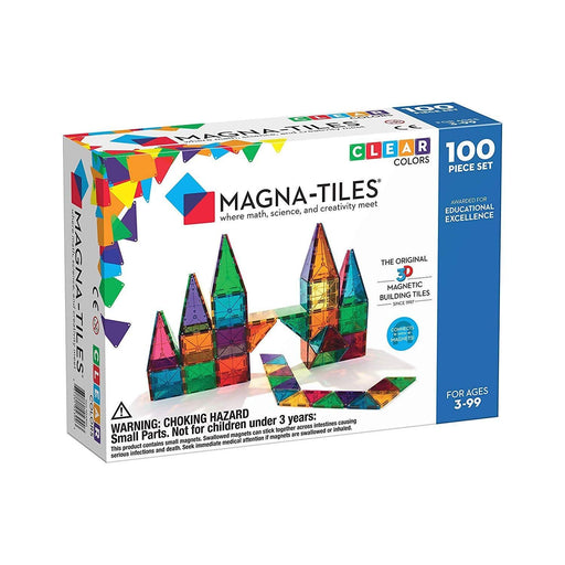 The Nestery : Magna-Tiles - Magna-Tiles Clear Colors 100 Piece Set