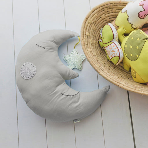 The Nestery : Masaya - Shape Cushion - Sleepy The Moon