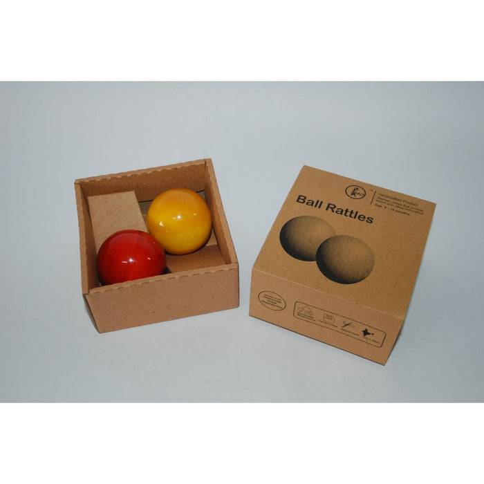 The Nestery: Maya Organic - Ball Rattle - Set Of 2
