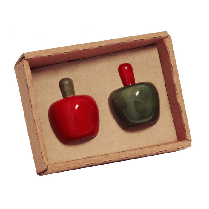 The Nestery: Maya Organic - Fridge Magnet - Apples - Set Of 2