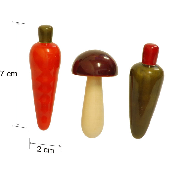 The Nestery: Maya Organic - Fridge Magnet - Vegetable Set