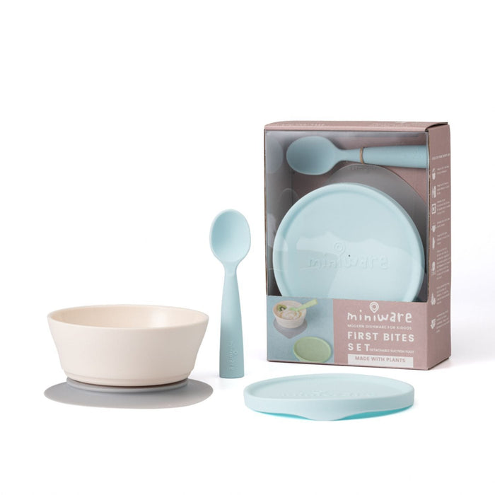 The Nestery: Miniware - Suction Bowl With Spoon Feeding Set