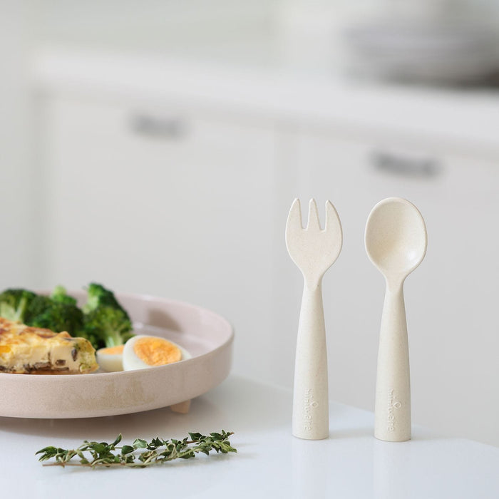 The Nestery: Miniware - Cutlery Fork & Spoon Set