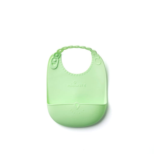 The Nestery : Miniware - Roll And Lock Silicone Bib - Lime