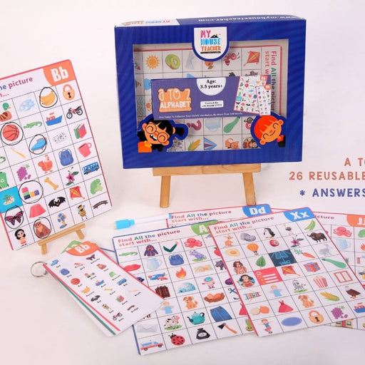 The Nestery : My House Teacher - A To Z Alphabet Sounds Ispy Reusable 26 Mats Set