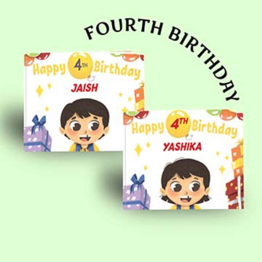 The Nestery : Oh! My Name - Happy 4th Birthday - Personalized Book
