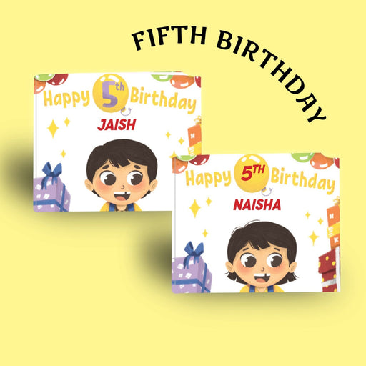 The Nestery : Oh! My Name - Happy 5th Birthday - Personalized Book