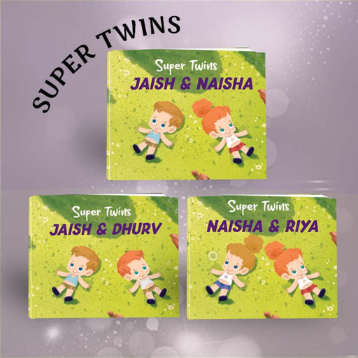 The Nestery : Oh! My Name - Super Twins Personalized Children Book