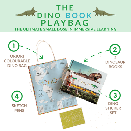 The Nestery: Oriori Kids - The Dino Books Playbag