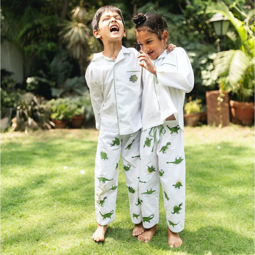 The Nestery : Oriori Kids - Dino Nightsuit - Naturalist Collection