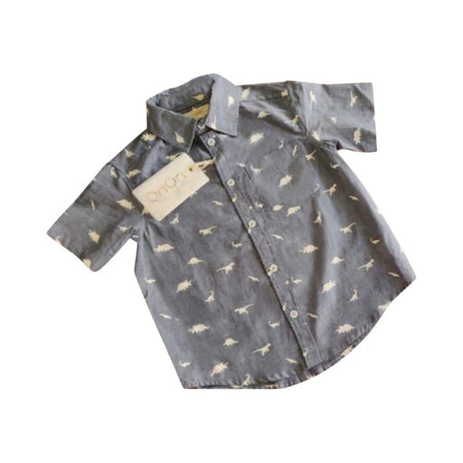 The Nestery : Oriori Kids - The Dino Shirt - Naturalist Collection