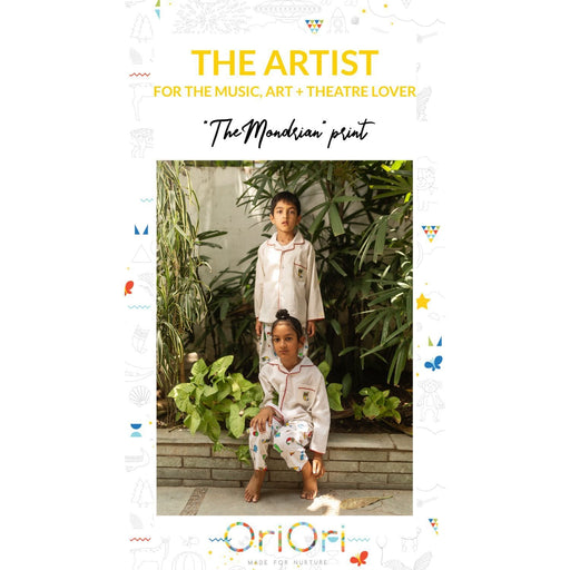 The Nestery : Oriori Kids - The Mondrian Nightsuit - Artist Collection