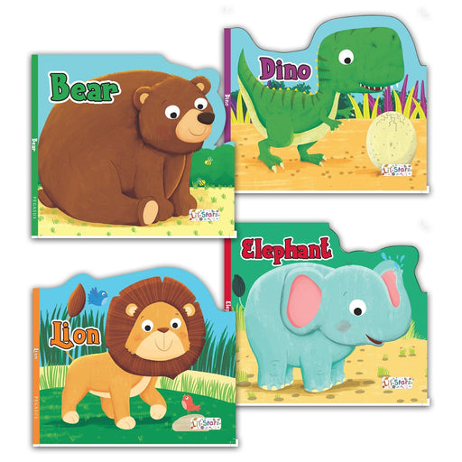 The Nestery : Pegasus-Big-Animal-Shaped-Board-Books-Combo-Set-Of-4
