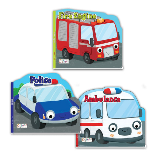 The Nestery : Pegasus-Emergency-Transport-Vehicle-Shaped-Board-Books-Combo-Set-Of-3