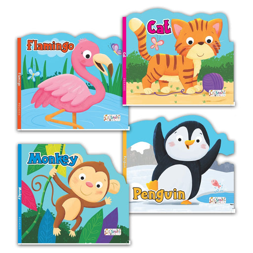 The Nestery : Pegasus-Lovely-Animal-Shaped-Board-Books-Combo-Set-Of-4