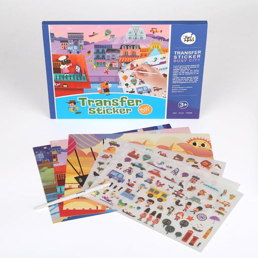 The Nestery : PepPlay - Transfer Sticker Scenes Set - Busy City