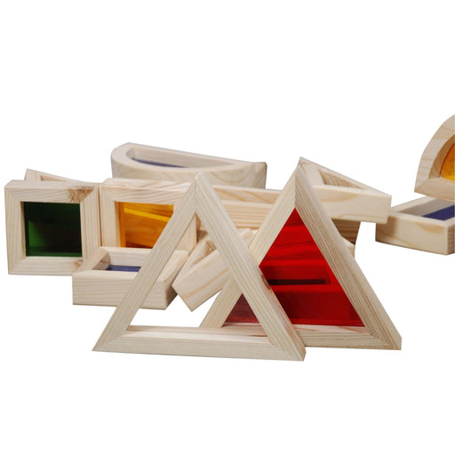 The Nestery : Piccolo Toys - Coloured Window Building Block Set