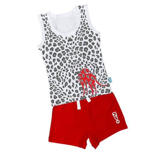The Nestery : Plan B - Looney Leopard - Vest & Shorts