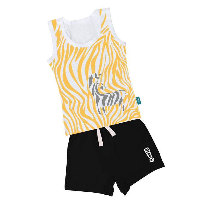 The Nestery : Plan B - Zany Zebra - Vest & Shorts