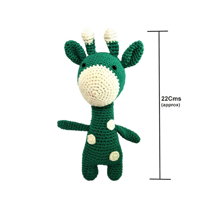 The Nestery: Plumtales - Handmade Amigurumi - Gigi - The Giraffe - Green