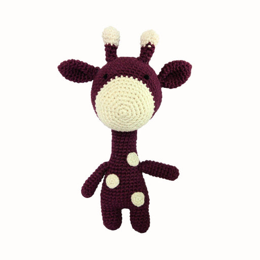 The Nestery: Plumtales - Handmade Amigurumi - Gigi - The Giraffe - Purple