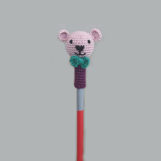 The Nestery: Plumtales - Handmade Amigurumi - Pencil Topper Bear - Assorted Colours (Set Of 6)