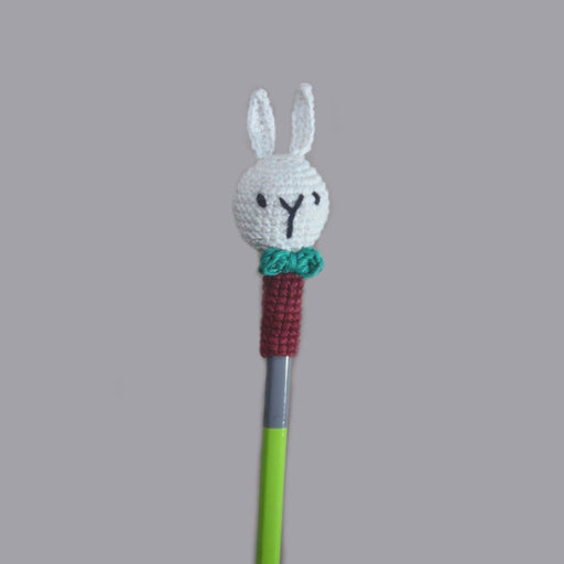 The Nestery: Plumtales - Handmade Amigurumi - Pencil Topper Bunny - Assorted Colours (Set Of 6)