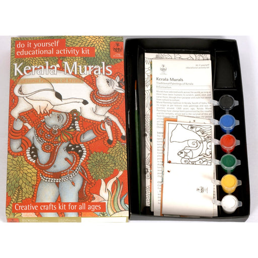 The Nestery : Potli - DIY Colouring Kit - Kerala Mural Painting  (10 Years +)