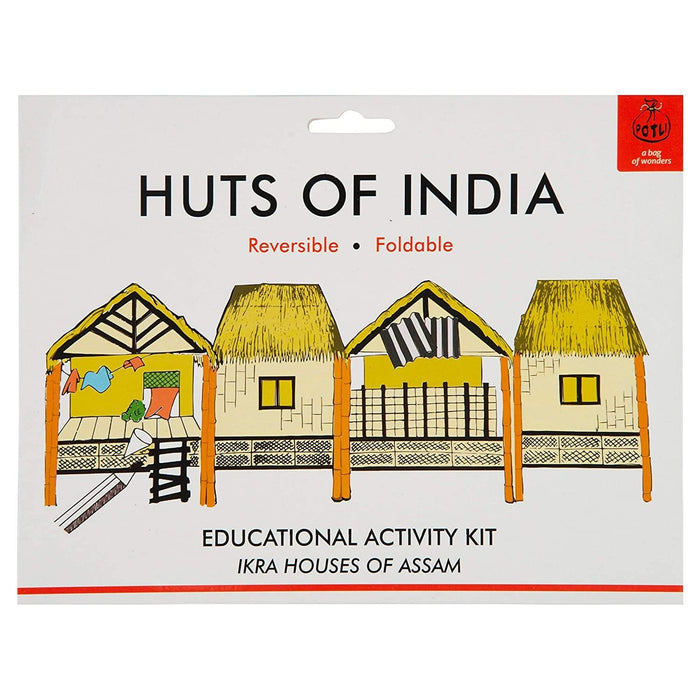 The Nestery : Potli - Handmade DIY Colouring Kit For Young Architects - Ikra House Of Assam (7 Years +)