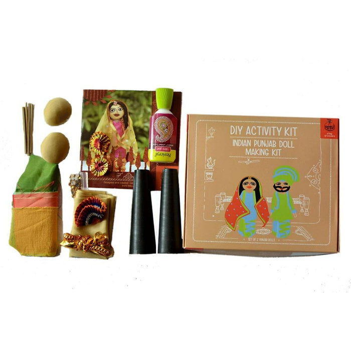 The Nestery : Potli - Handmade DIY Indian Traditional Doll Making Craft Kit - Costumes Of Punjab (10 Years+)